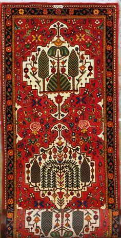 "Buy Bakhtiari Persian Rug 2' 10"" x 13' 2"", Authentic Bakhtiari Handmade Rug"