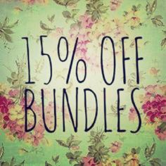 Enjoy 15% off bundles of 3 or more! Bundle and save today! Other