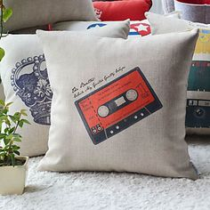 Graffito Steam rock' n' roll Style Radio Tape Decorative Pillow Cover – AUD $ 19.94