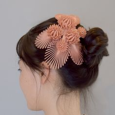 original design by monocircus. customizable in your preferred color. Kanzashi, Pink Beige, Headdress, Bride, Earrings, Color, Jewelry, Fashion, Wedding Bride