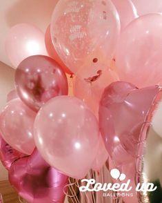 バルーンデコレーション専門サービス|Loved up balloons|ピンクの浮かぶ風船