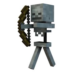 Minecraft Skeleton Vinyl Wall Decal by WilsonGraphics on Etsy, $5.50