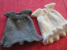cute knit doll dress. free pattern