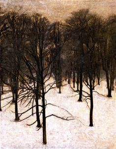 Landscape in the Snow Vilhelm Hammershøi - 1895-1896 (by BoFransson)