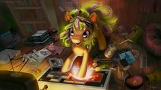 MLP FIM: Commission - Starbuck playing video games by hinoraito.deviantart.com on @deviantART