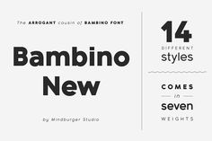 Bambino New Font Family - 14 fonts by Mindburger Studio on @creativemarket