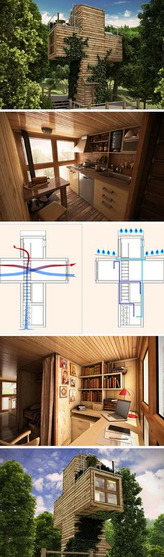 CROSS-SHAPED MICRO CONTAINER HOME