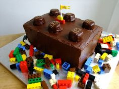 LEGO inspired birthday cake