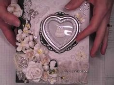 """Tags, metal embellishments, etc from http://www.scrapbuck.com    Album measures - 7 1/4"""" x 6"""" x 1 3/4""""    Gorgeous flowers, lace, etc. from:  Wild Orchid Crafts - http://www.wildorchidcrafts.com (scroll down for product links)  WOC YouTube - http://www.youtube.com/wildorchidcrafts  WOC Facebook - http://www.facebook.com/wildorchidcrafts  My Blog..."""