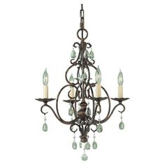 Feiss Chateau Six Light Chandelier On SALE