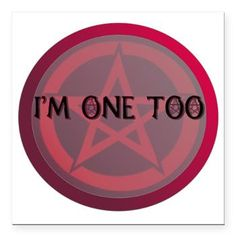 "Im one too Square Car Magnet 3"" x 3"" $4.19"