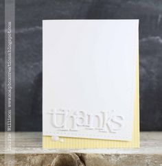 Thank you card - alpha die