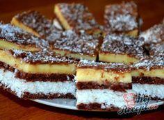 Vynikající kokosové řezy s čokoládou Waffles, Pancakes, Oreo Cupcakes, French Toast, Cooking, Breakfast, Recipes, Food, Kitchen