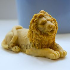 Lion 3D mold soap mold silicone molds mold for soap by GoodMolds