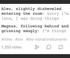 Things ...  magnus bane, malec, alexander 'alec' lightwood, shadowhunters, the mortal instruments