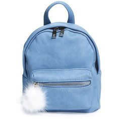 Women's Bp. Faux Leather Mini Backpack (150 RON) ❤ liked on Polyvore featuring bags, backpacks, blue, backpack bags, knapsack bag, blue bag, fake leather backpack and blue backpack