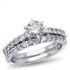 West End, 14K White Gold Diamond Bridal Set, 1 1/2 ctw.
