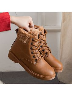 Women's Casual lace solid warm snow boots Women Clothes For Cheap, Collections, Styles Perfectly Fit You, Never Miss It! Fur Ankle Boots, Buckle Boots, Heeled Boots, Women's Boots, Winter Shoes For Women, Snow Boots Women, Shoes Women, Thigh High Boots Flat, Berry