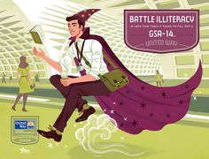 United Way metro campaign - illustrations by Kali Ciesemier