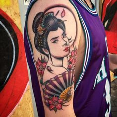 tattoo-journal | 50 Colorful Japanese Geisha Tattoo Meaning and Designs | http://tattoo-journal.com