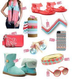 Top 10 Picks: Spring Fashion Accessories in Coral and Aqua