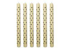 S/6 Mini Dot Tapers, Black/White on OneKingsLane.com$26.00  $56.00 Retail
