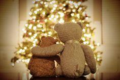 Christmas, teddy bear, love, moment, holiday,  | via Tumblr