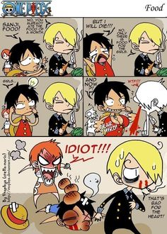 Poor Luffy all he wants to do is eat ;) and lol Sanji XD