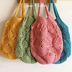 Cottage Crochet Easy Bag Making Crochet Beach Bags, Bag Crochet, Crochet Market Bag, Crochet Clutch, Crochet Handbags, Crochet Purses, Crochet Gifts, Crochet Yarn, Knitting Yarn