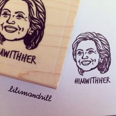 Hillary Clinton Stamp #imwithher #hillary #hillary2016 #clinton @lilimandrill http://WeHeartHillary.com