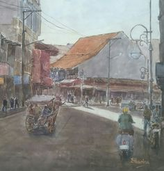 Bukittinggi, west sumatra ( donny prawira and his bad watercolor arts )