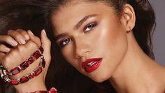 Zendaya for Lancome L'absolu rouge ruby cream lipstick 2019 #zendaya #lancome Zendaya Maree Stoermer Coleman, Lancome Lipstick, Androgynous Look, Instyle Magazine, Septum Ring, Fragrance, Menswear, Hoop Earrings, Cosmetics