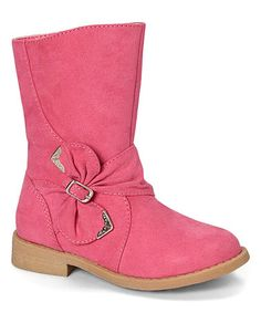 Look what I found on #zulily! Fuchsia Buckle Bow Maisy Boot #zulilyfinds