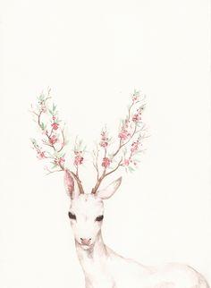 Floral deer | inspiration
