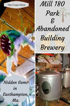 Mill 180 Park and Abandoned Building Brewery - Our Carpe Diem - Looking for things to do in Easthampton, MA? Go check out this indoors urban park and Abandoned Bui - Travel Money, New Travel, Travel Usa, Family Travel, Carpe Diem, Urban Park, Free Things To Do, Abandoned Buildings, Brewery