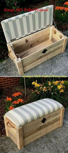 Project ideas for pallet storage boxes # Range furniture., Project ideas for pallet storage boxes projects # Pallet furniture