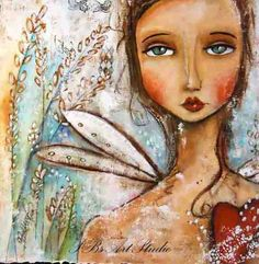 Print of original mixed media collage-take care of my heart.. $30.00, via Etsy.