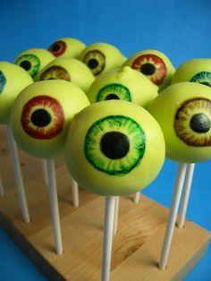 DIY Cake Pop Recipe : Ghoulishly Green Eyeball Cake Pops