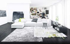 Abisko rug from Henzel Studios. 100% New Zealand wool and silk.