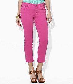 Lauren Ralph Lauren Petites Slimming Classic Cropped Jeans #Dillards