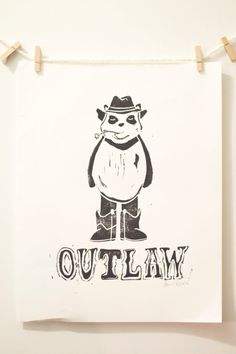 The Outlaw Gang: Panda by PBandSyrupDesigns on Etsy