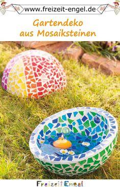Gartendeko Aus Mosaiksteinen   Idee Mit Anleitung !Mosaik, Wasser Und  Gartengrün   Das Sind
