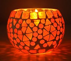 Handmade Diwali Decorative Diya Unique Glass Candle Holder 3 Inch Red Color *** See this great product.Note:It is affiliate link to Amazon. #ilu