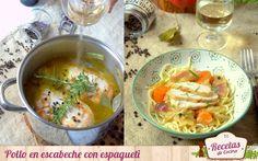 Pollo en escabeche -  El escabeche es un método de conserva de los de toda la vida, y el pollo en escabeche una de las recetas más clásicas. En casa se ha hecho siempre y nos encanta, sobre todo con pasta. Hacer un escabeche es realmente fácil, solo hay que cocinar el ingrediente a escabechar, en este caso el pollo y... - http://www.lasrecetascocina.com/pollo-en-escabeche-2/