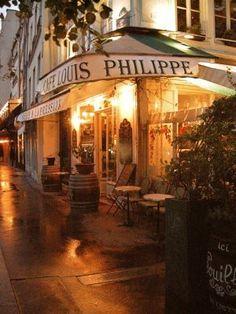 Parisian Cafe on Ile St. Louis