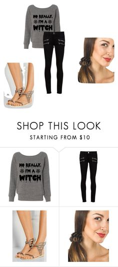 """""""second prank"""" by mahenry ❤ liked on Polyvore featuring Paige Denim, Ancient Greek Sandals and FRR"""