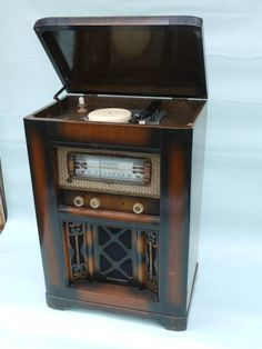Japanese Console Phonograph C 1940's | yahoo auction