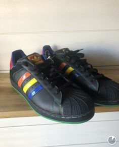 promo code 44350 376ae Adidas Superstar II CB 045887 Black Rainbow Red Yellow Orange Blue Size 12   fashion  clothing  shoes  accessories  otherclothingshoesaccessories (ebay  link)
