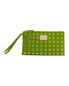 Perfect for summer! In the limelight: MICHAEL Michael Kors Grommet Pouch. #handbag #clutch #wristlet