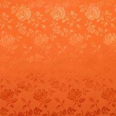 Orange Jacquard Satin Sample